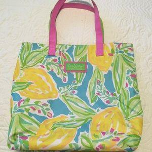 Lilly Pulitzer beach bag by Estée Lauder lemons